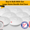 GS511E Large Home Bundle - 8 GS511E 10yr Battery Wireless Interconnected Photoelectric Smoke Alarms with Remote Control
