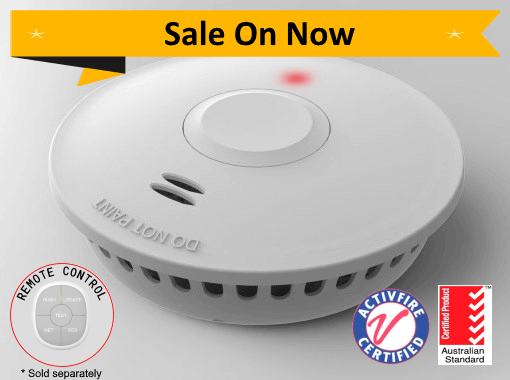 PSD-GS511E 10yr Battery Photoelectric Smoke Alarm - Wireless Interconnect Promotion with Remote Control