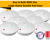 GS511E Standard Home Bundle - 5 GS511E 10yr Battery Wireless Interconnected Photoelectric Smoke Alarms