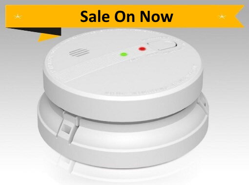 PSD-GS518E 240V Photoelectric Smoke Alarm 10 Year Battery - Wireless Interconnect Promotion