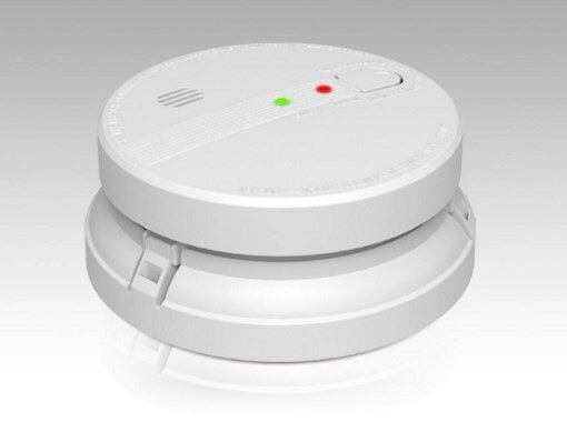 PSD-GS518E 240V Photoelectric Smoke Alarm 10 Year Battery - With Wireless Interconnect Base