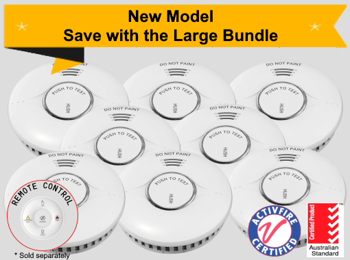 Ep-Rang-RF-10 Large Bundle - 8 EP-Rang-RF-10 10yr Battery Wireless Interconnected Photoelectric Smoke Alarms