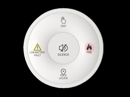 EP-Rang-RFC Remote Control for EP-Rang-RF10 Wireless Interconnected Photoelectric Smoke Alarm 10yr
